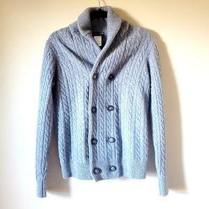 Lorenzo Magni gray wool cardigan size S